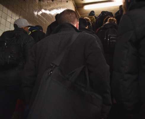 Millions of people swipe in and out of the subway everyday. We build connections with strangers by rolling our eyes at oh-so-typical delays and navigating adjusted schedules. (50th St)