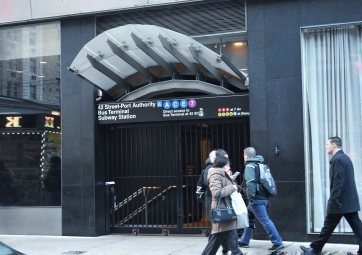 As Beacon's school day let out, the Port Authority subway station remained closed off.