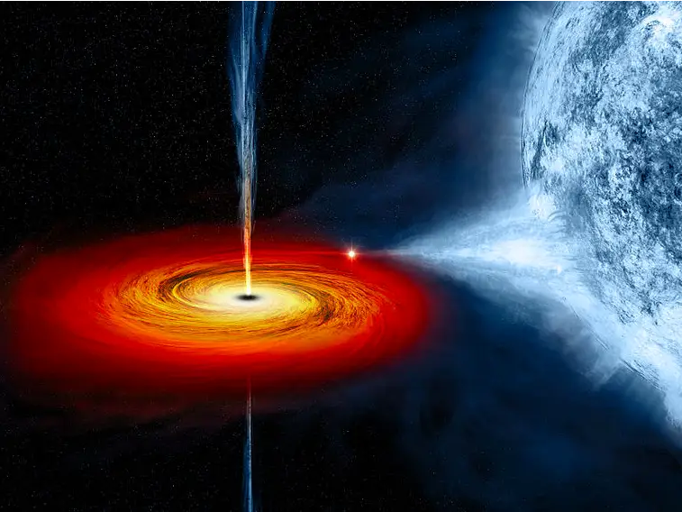 Close galactic encounter leaves nearly naked
